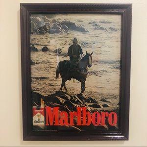 Vtg 70's Marlboro cigarettes ad framed by me